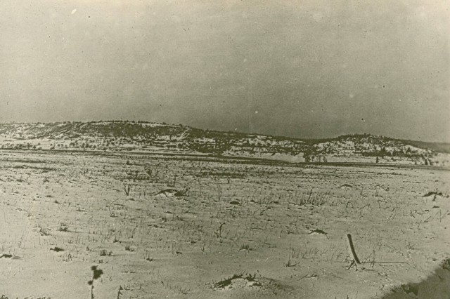 328th Infantry Regiment line of advance in capture of hill 223. October 7th 1918, 82nd Division Argonne Forrest, France. (World War I Signal Corps Collection).