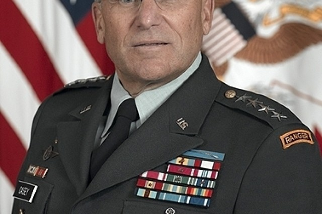 Gen. George. W. Casey, Jr. is committed to improving quality of life for Soldiers and their Families.