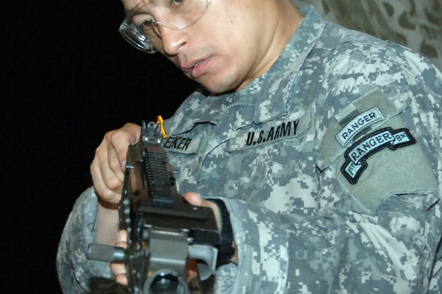 Spc. Heyz T. Seeker, the Army's top Soldier at the Best Warrior Competition.