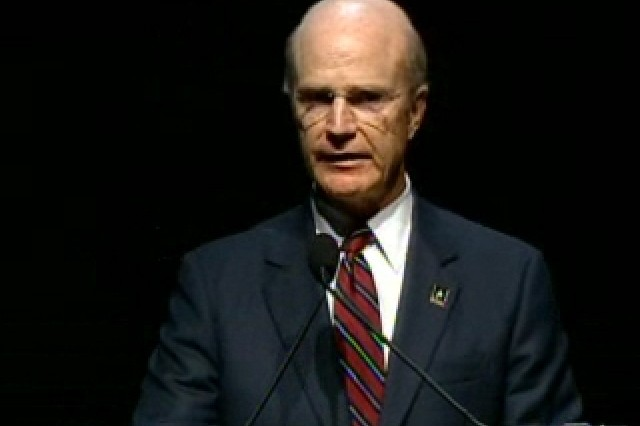 Secretary of the Army, Pete Geren at the AUSA opening ceremony.