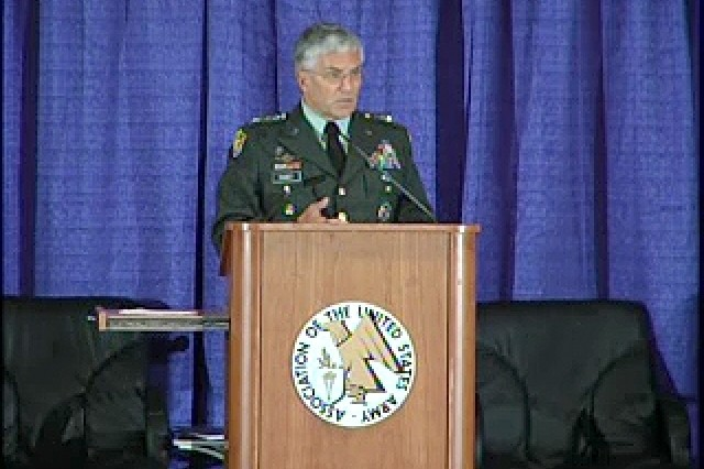 U.S. Army Chief of Staff, addressing an audience at the 2007 Association of the United States Army conference in Washington, D.C.