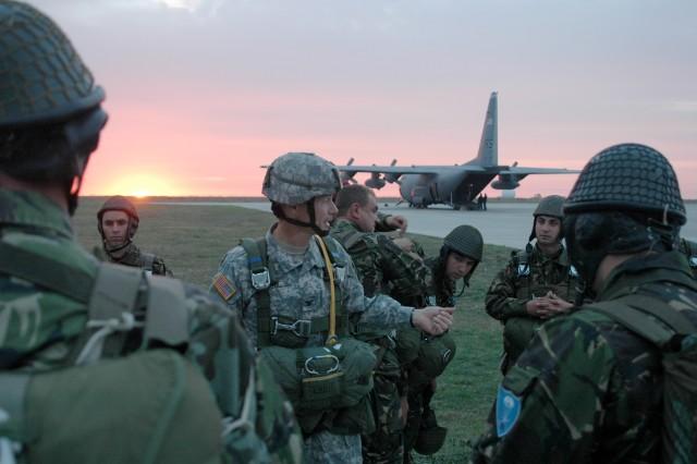 U.S., Romanian Paratroopers Jump