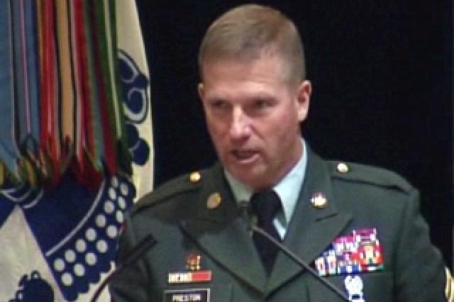Sgt. Maj. of the Army Ken Preston at AUSA.