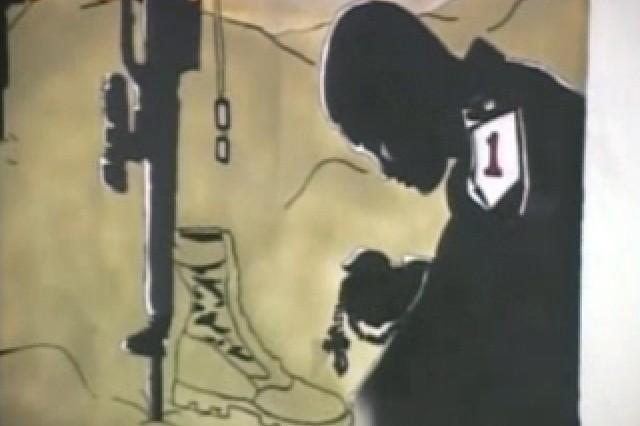 A segment of the 2-159th Aviation Battalion Tribute Mural