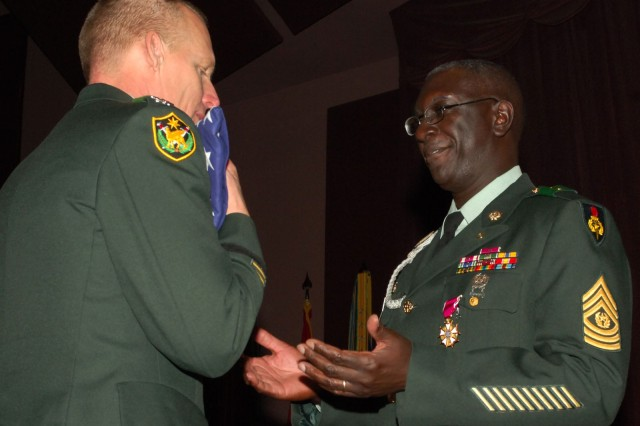 CSM Dale retires as USASMA Academy CSM.