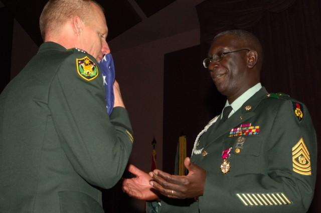 CSM Dale retires as USASMA Academy CSM.