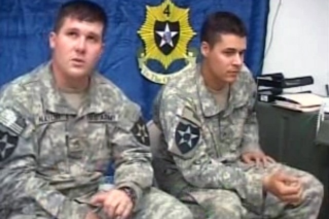 Staff Sgt. Joe Naylor and Sgt. Jason Sims