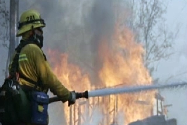 The National Guard and USACE continue to fight fires in California.