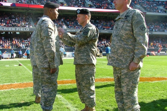 Award Ceremony at Soldier Field