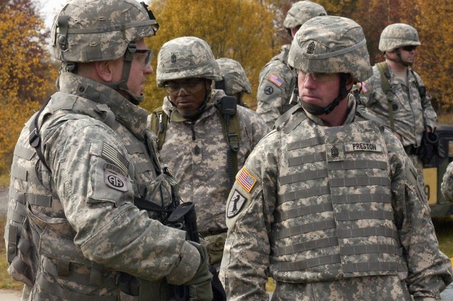 Sergeant Major of the Army Visits Soldiers, Views Training During Day in Grafenwoehr, Vilseck