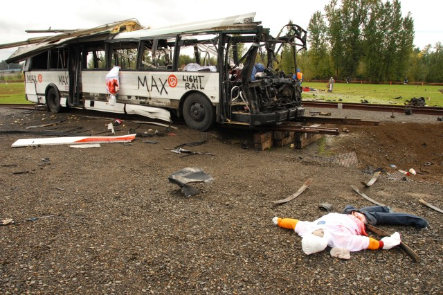 The scenario is made realistically gruesome so first responders will know what to expect should the unthinkable happen.