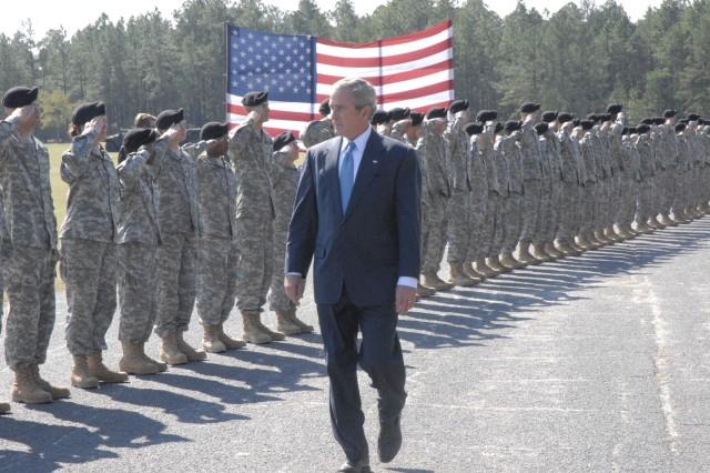 President Bush at Fort Jackson graduation