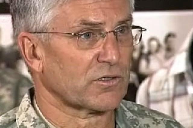 General George Casey in Heidelberg, Germany