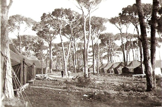 Tombolo tent city was a humble abode for 15 months as Camp Darby was being developed in the early 1950s