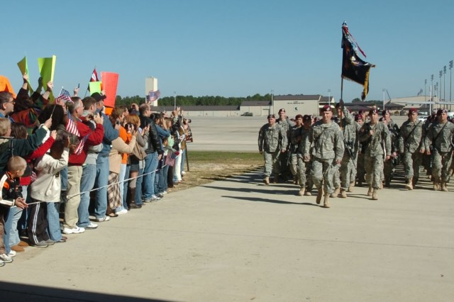 After a 16-month deployment to Iraq, paratroopers from the 325th Airborne Infantry Regiment return to Fort Bragg, N.C.