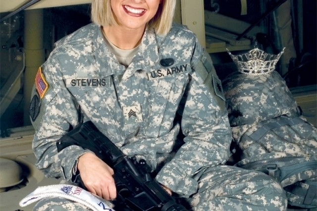 Poster of Sgt. Jill Stevens was created to promote her journal on the new Army Web site.