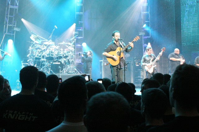 The Dave Matthews Band performs a free concert Wednesday evening at West Point's Eisenhower Hall.