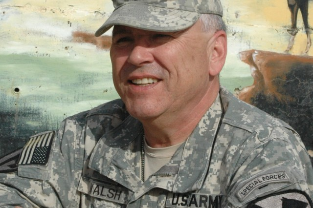 Chap. (Lt. Col.) Stephen Walsh, the Multi-National Division - Baghdad chaplain from Copperas Cove, Texas, talks about issues that may arise during the transition home after a 15 month deployment in Baghdad at Camp Liberty Nov. 15.