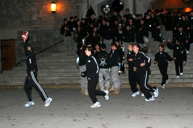 The Army Marathon team begins their 250-mile trek from West Point to Baltimore to deliver the game ball for the 108th Army-Navy game. Twenty-one cadet marathoners will take turns running the ball to Maryland.
