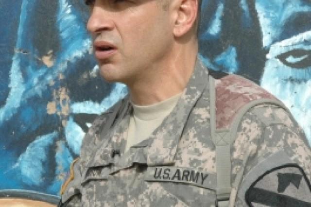 Command Sgt. Maj. Philip Johndrow, 1st Cavalry Division in Iraq.