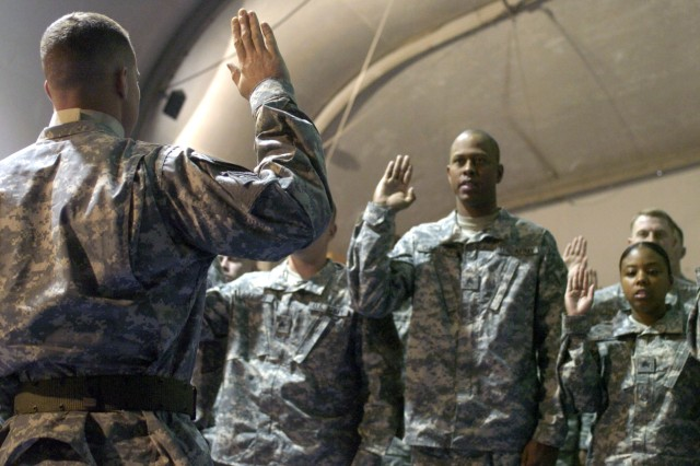 Gladius NCOs inducted into Corps