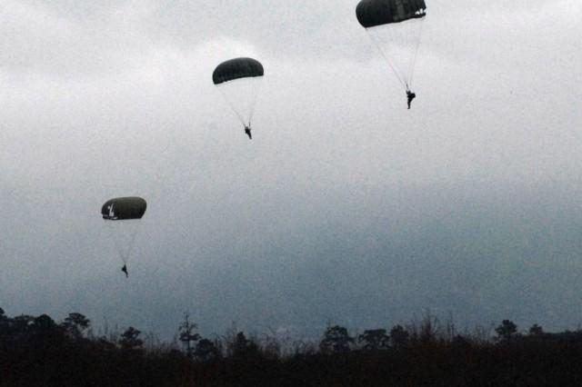 U.S. and Honduran forces prepare to land in the Tamara Drop Zone in Honduras Dec. 8.