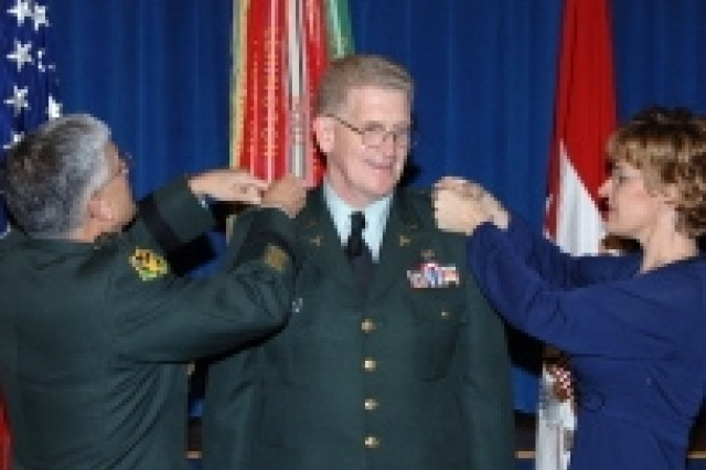Lt. Gen. Eric B. Schoomaker, at his promotion ceremony Dec. 12, in which he also assumed the duties of surgeon general of the Army and commander of the U.S. Army Medical Command.