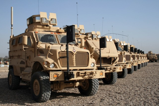 The 3rd BCT, 101st Airborne Division (Air Assault) received 18 Mine-Resistant Ambush-Protected vehicles Dec. 7.