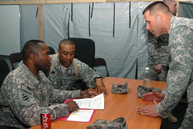 Multinational Division Center Command Sgt. Maj. Jesse L. Andrews Jr., in Iraq.