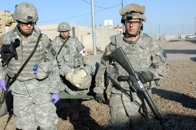 Troops take part in casualty exercise
