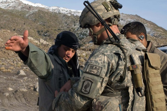 U.S. Army Europe Paratroopers Watch for Taliban, Smugglers on Afghan Road