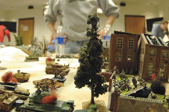 A competitor surveys the destruction he caused to his opponent's forces as he determines his next move.