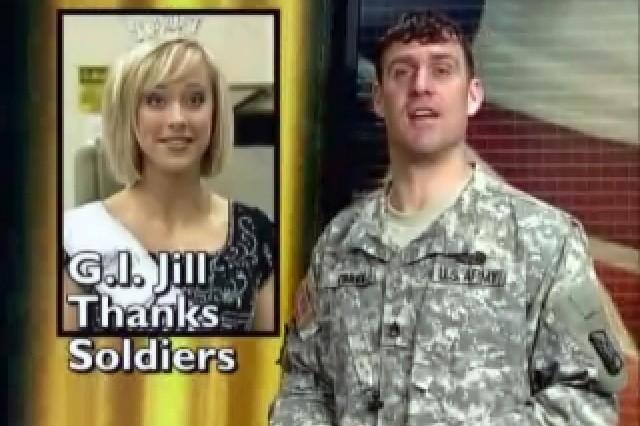 Sgt. Jill Stevens thanks Soldiers