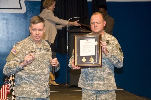 Phillips recognizes ANMC Spartan mission