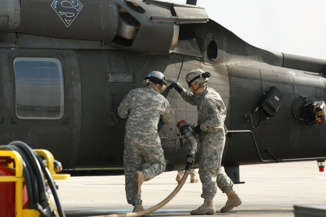 FARP Soldiers work around the clock to provide fuel, ammo for aircraft