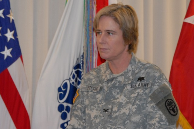 Col. Elspeth Richie, the Army's top psychiatrist, responded to questions about the Army's rising suicide rate at a Pentagon media round table. The Army is responding to rising suicide rates with more training programs for Soldiers, leaders and Families, and is encouraging battle buddies to watch out for each other.
