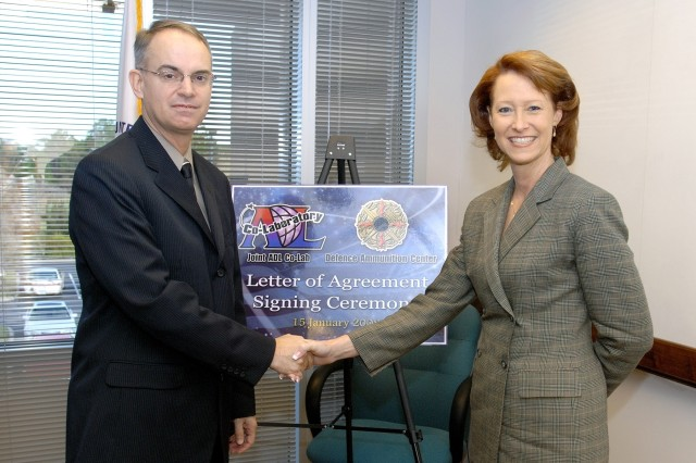 Gary Carney, DAC director, with Ms. Jean Burmester, director of the Joint ADL Co-Lab.