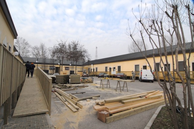 Renovations are nearly complete on a new Warrior Transition Unit facility, which will include not only barracks, but also USO and Better Opportunities for Single Soldiers organizations located in Vicenza, Italy.