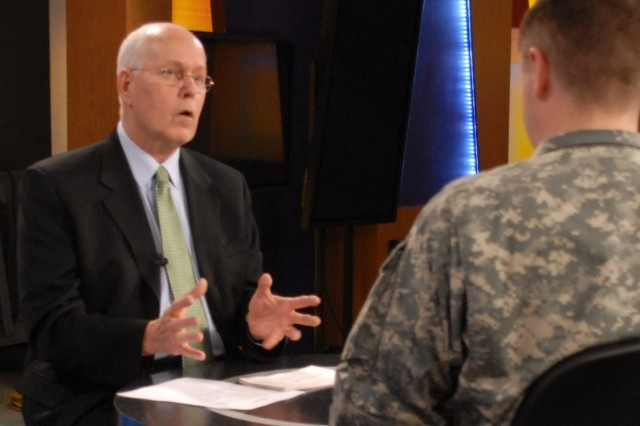 Army Career Alumni Program Director James Hoffman discusses the new ACAP Express program that will debut online Feb. 28.  Hoffman was interviewed this week in the television studio of the Soldiers Media Center by Sgt. Stephen Smith.