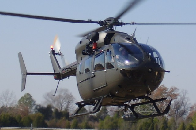 The UH-72A Lakota helicopter is a non-arms-bearing helicopter that performs medical and casualty evacuations, provides disaster relief, aids in homeland defense and also works to counter drugs and narcotics
