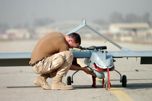 Unmanned aircraft systems patrol skies over Iraq