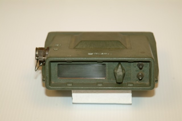 A Trimble Navigation SLGR from the collection of the US Army 	Heritage Museum.