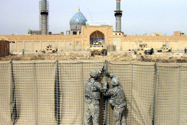 Military Police Soldiers improve security of Balad Shrine Mosque