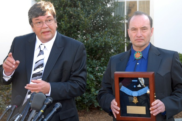 President Awards Medal of Honor to First Sioux Warrior