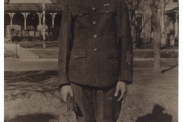Cpl. Frank Buckles on his way to a reception for Gen. John Pershing in Oklahoma City in 1920. The commander of American forces during World War I and Buckles discussed their home state of Missouri.