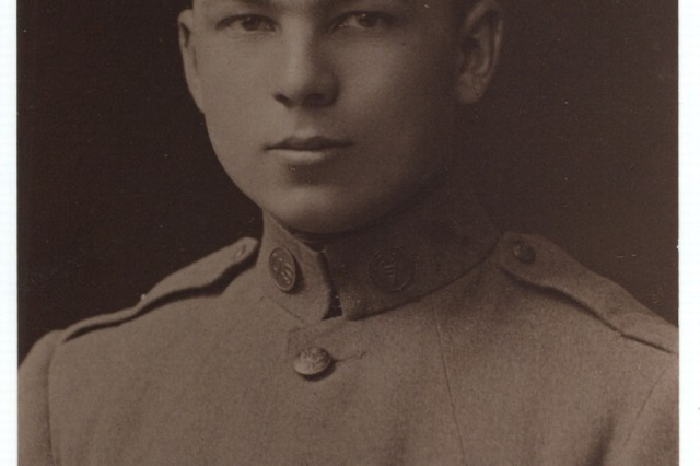 Cpl. Frank Buckles, shortly after he arrived in Winchester, England, on his way to France in 1917.