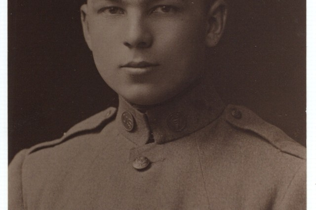 Cpl. Frank Buckles, shortly after he arrived in Winchester, England ,on his way to France in 1917.