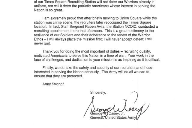 Dear Army Recruiters...