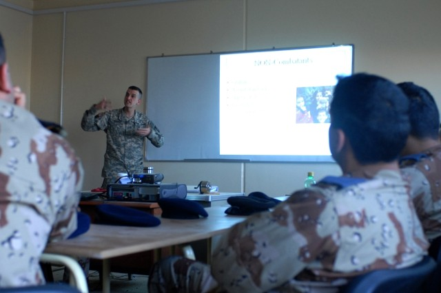 12th Combat Aviation Brigade attorney teaches law of armed conflict to Iraqi Air Force cadets