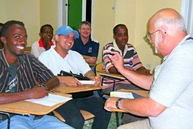 Army Employee Teaches in Djibouti